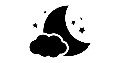 Home Design Plans Free by Night Symbol Of The Moon With A Cloud And Stars Free