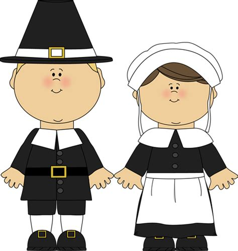 pilgrim boy and girl clip art pilgrim boy and girl image