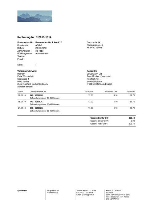 Rechnung In Schweiz Dienstleistung Stundenbasis Heavy Shakehands Software