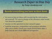 Image result for writing a research paper in one day