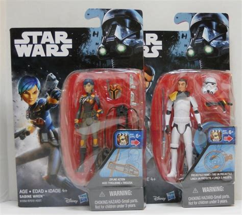 Wars Rebels 3 75 Inch Figure Kanan Jarrus Stormtrooper D wars rebels sabine wren and kanan jarrus stormtrooper