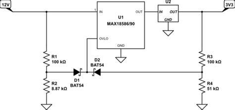 diode comparator circuit circuit protection using to diodes for or ing in ovp comparator electrical engineering stack