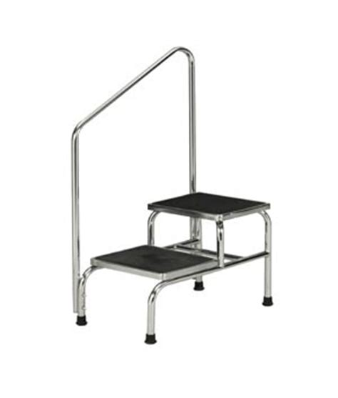 Bariatric Step Stool With Handrail two step bariatric foot stool with handrail