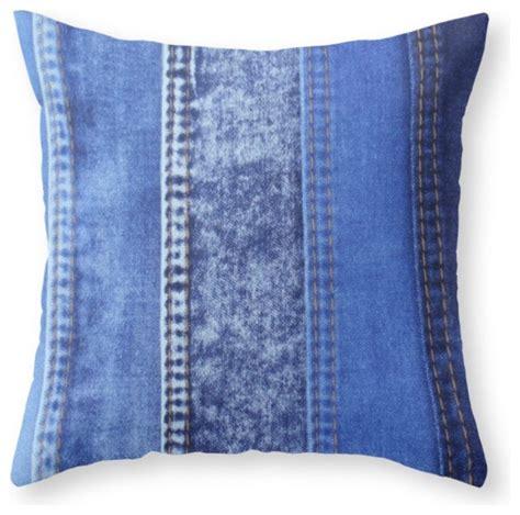 society6 denim throw pillow decorative pillows by