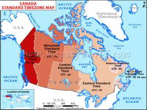 canada time zone map maps of the world