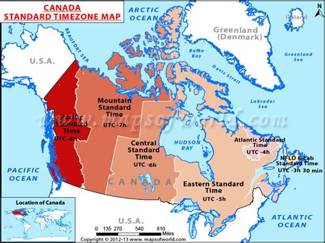 canadian map and time zones canada time zone map maps of the world