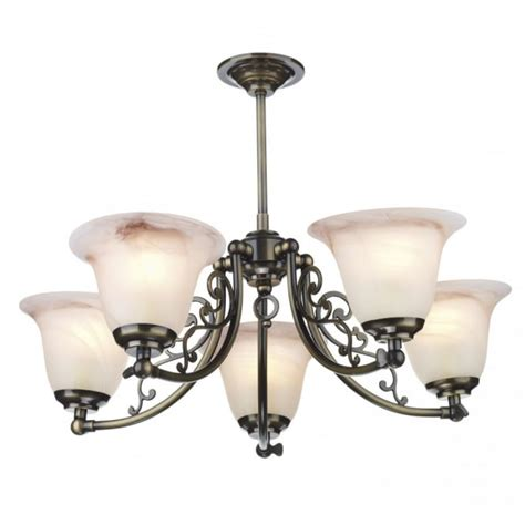 5 Arm Ceiling Light Traditional Antique Brass 5 Arm Ceiling Light For Rustic Settings
