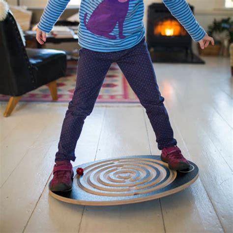 balance board wooden labyrinth wobble rocker board