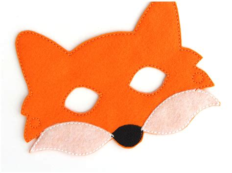 kids fox mask fox costume felt mask kids face mask animal