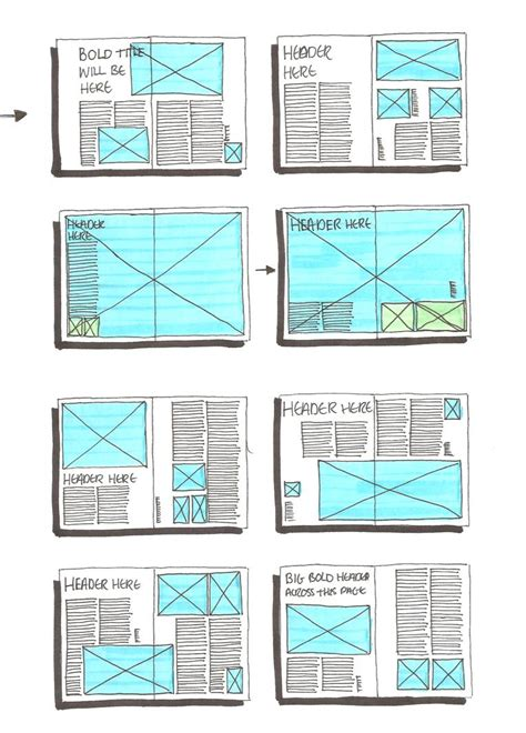 grid layout website exle grid layout sketches on pinterest magazine layouts