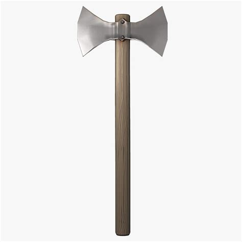 sided axe 3d model of two sided battle axe