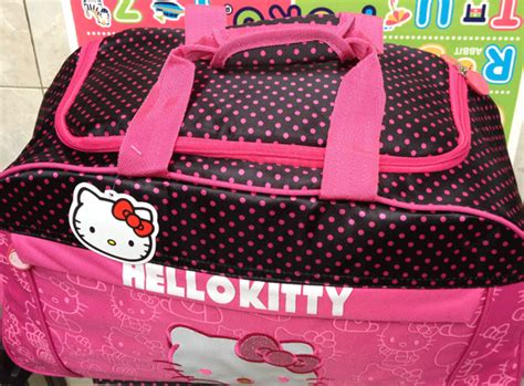 Dompet Tas Tas Travel Slempang 3399 Hello Pink tas anak trolley travel hello polka dot pink