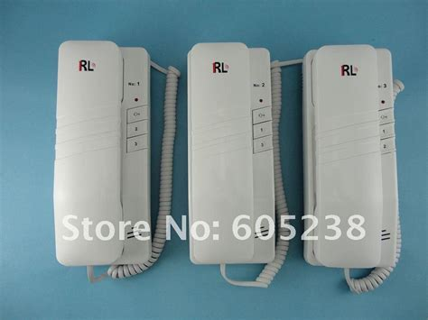 cheap rl 3203aaa door phone inter phone intercom with indoor units 3 way intercom