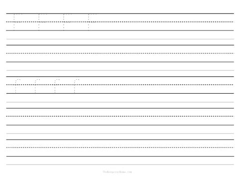 5 best images of blank writing worksheet printable
