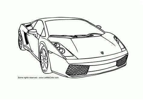 Coloring Pages Sports Cars sports cars coloring pages free large images
