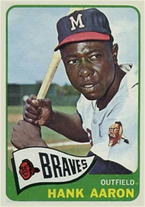 1965 topps hank aaron #170 baseball card value price guide