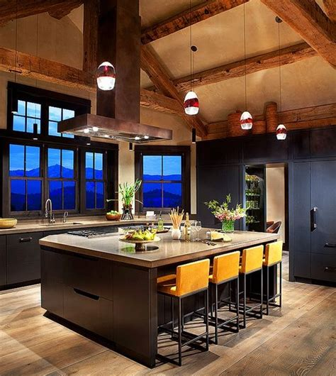 Montana Home Decor Montana Ranch Home Exuding Rustic Modern Style Design Interiordesign Decor Kitchens
