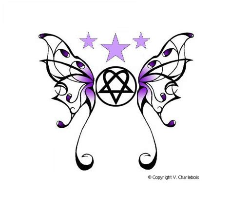 heartagram butterfly by burnthewood on deviantart
