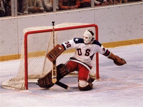 Miracle Hockey Free 1980 Team Usa Goalie Jim Craig During The Miracle On Jym Wilson Burlington Free