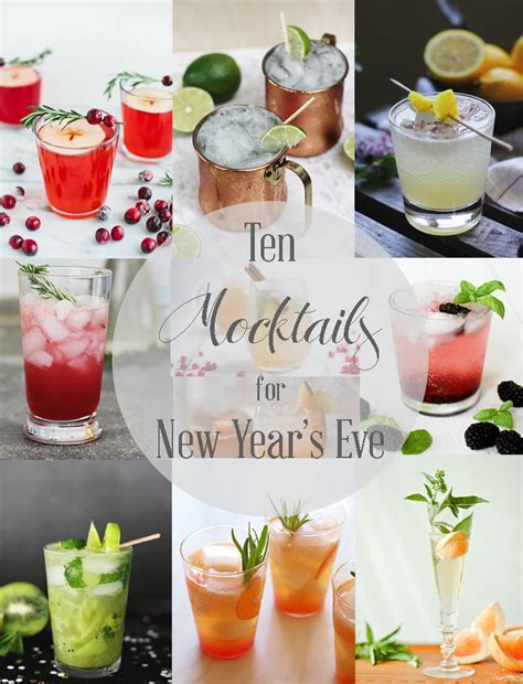 new year mocktail recipes 10 mocktails for new year s 187 the merrythought