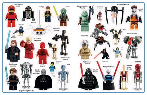 Ninjago Aufkleber Mit Namen by Lego 174 Wars Minifiguren Das Gro 223 E Stickerbuch Miwarz