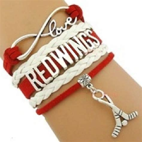 detroit red wings fan pack detroit sports bracelet 3 pack gift special red wings