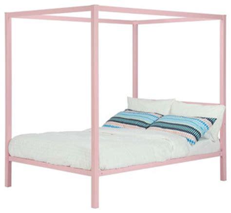 twin size bed frame for kids metal platform canopy bed frame pink great for kids girls