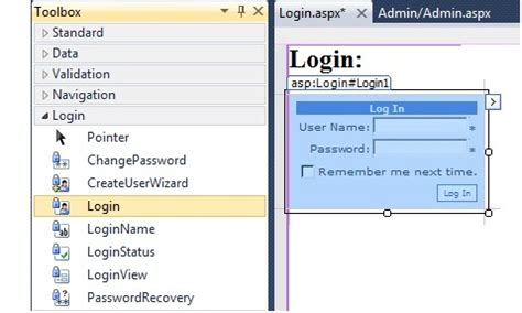 ASP.NET Membership and Role Provider - CodeProject Login Asp