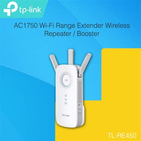Sale Tp Link Re450 Wi Fi Range Extender Ac1750 tp link re450 ac1750 wi fi range extender wireless repeater booster