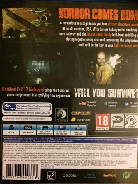 Kaset Bd Ps4 Resident Evil 7 Biohazard Reg 3 resident evil 7 biohazard ps4 uk from sort it apps