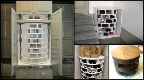 diy lazy susan shoe storage how to build a fantastic shoes organizer diy lazy susan