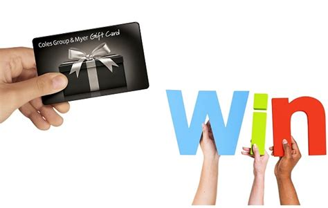 Coles Myers Gift Cards - single parent competitions winners