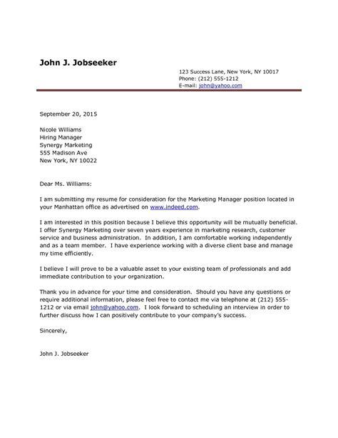 cover letter template cover letter resume