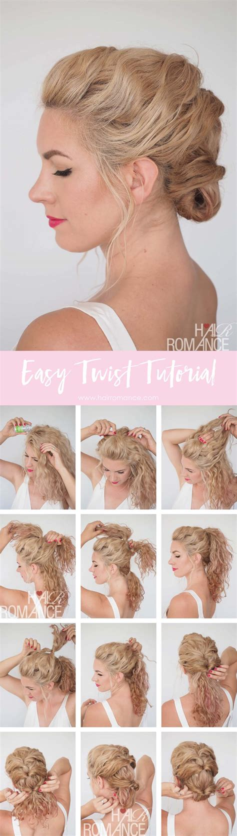 html get tutorial quick and easy twist hairstyle tutorial get great hair
