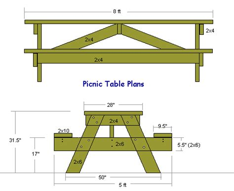 20 free picnic table plans enjoy outdoor meals with friends amp family home and gardening ideas