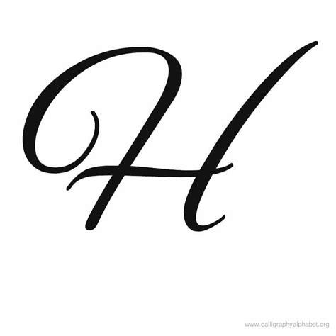 Calligraphy Alphabet H | Alphabet H Calligraphy Sample Styles H Alphabet Designs
