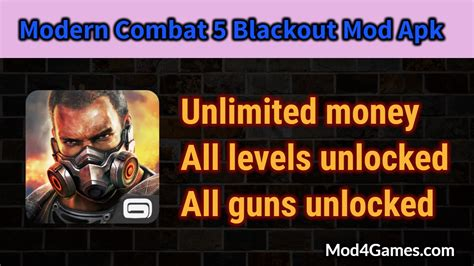 modern combat 5 apk obb modern combat 5 blackout mod apk all levels unlocked all guns unlocked with obb data