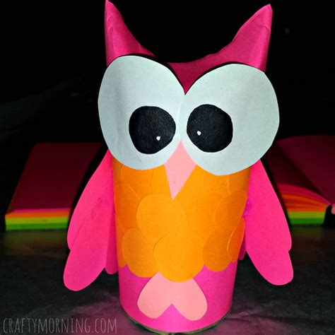 diy owl toilet paper roll craft for crafty morning