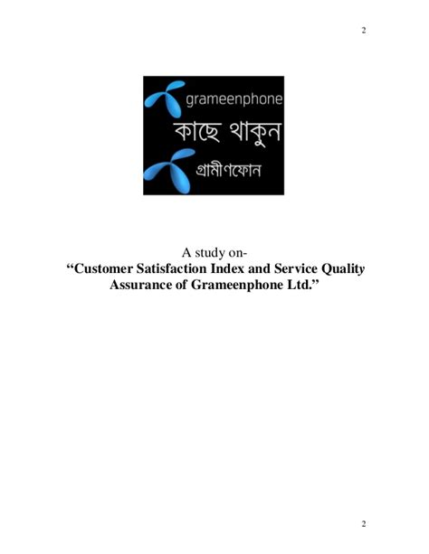 Customer Assurance Letter Customer Satisfaction Index And Service Quality Assurance