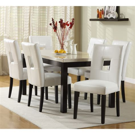 modern white dining table set white kitchen table and chairs design homesfeed