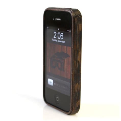 Iphone Casing root cases wooden iphone 4 gadgetsin