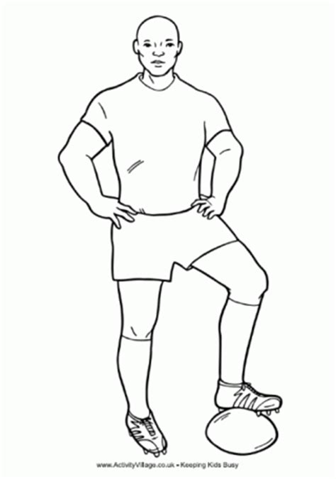 Rugby Outline by Rugby Colouring Pages