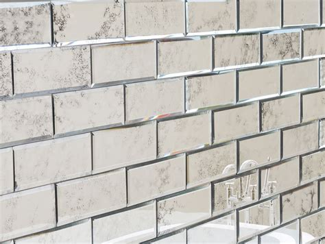 Peel And Stick Subway Tile 200x75 Antiqued Bevelled Mirror Brick Tiles My Furniture