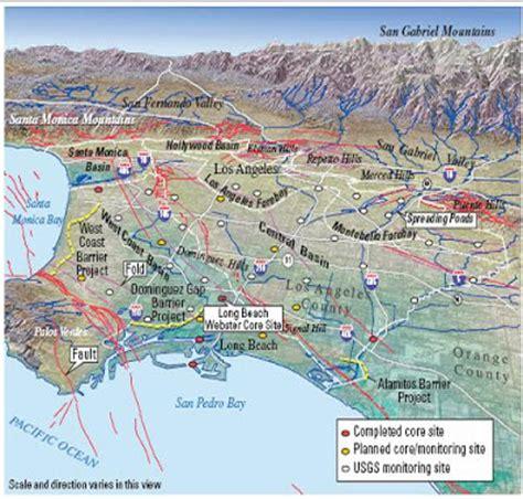 map of los angeles basin los angeles basin map afputra