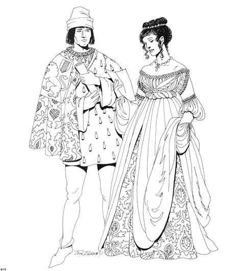 renaissance dress coloring page meval slave coloring pages for adults meval best free