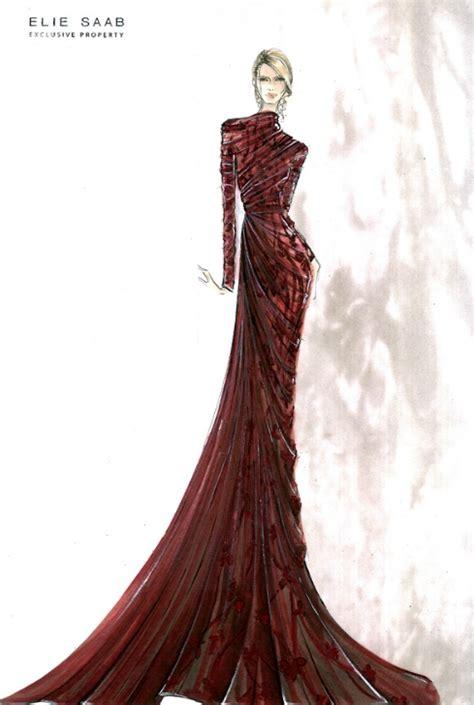 fashion illustration elie saab costume renderings on costume design costume