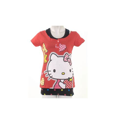 Sandal Cewek Motifsarung t shirt kaos cewek motif hello 016010487