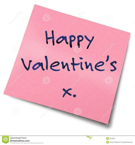 valentines posts for valentines post it note stock image image 3979031