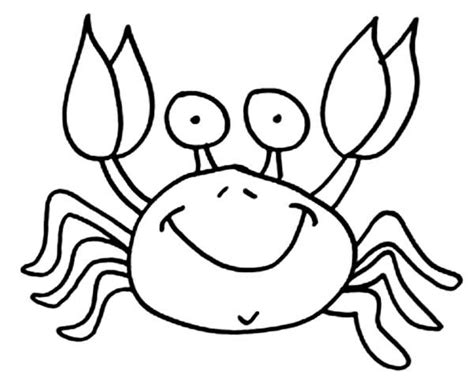 easy crab coloring page 17 best images about under the sea trunk on pinterest
