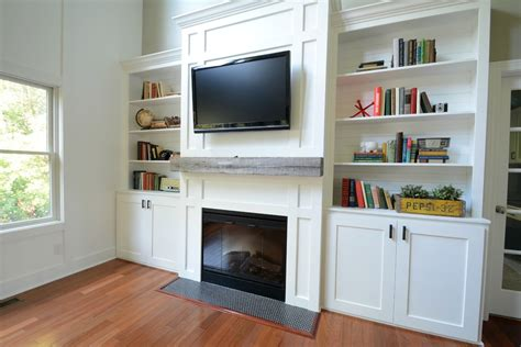livingroom cabinets white living room built ins feature by decor and